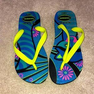 Havaianas Flip Flops Women's US 7 8 Multi color